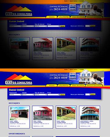 Desenvolvimento de Sites da Imobiliária Campos Imóveis