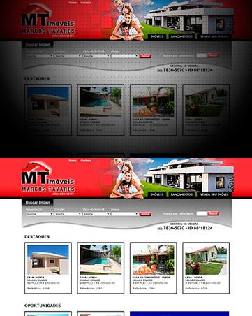 Desenvolvimento de Sites para Imobilária Marcos Tavares Imóveis