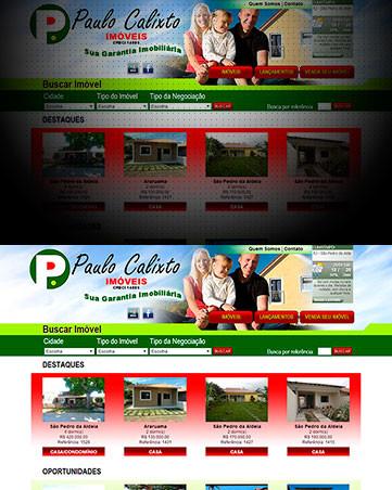 Desenvolvimento de Sites para Imobiliária Paulo Calixto Imóveis